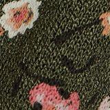 Jersey jurk met print en volants, KHAKI GREEN, swatch