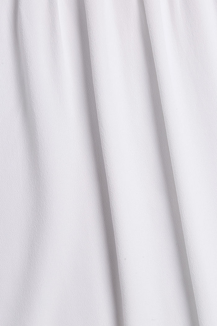 Blouse top with lace and LENZING™ ECOVERO™, WHITE, detail image number 4