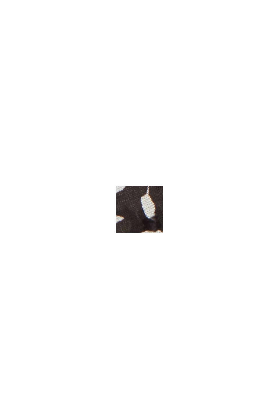 Patterned plumetis cotton blouse, BLACK, swatch