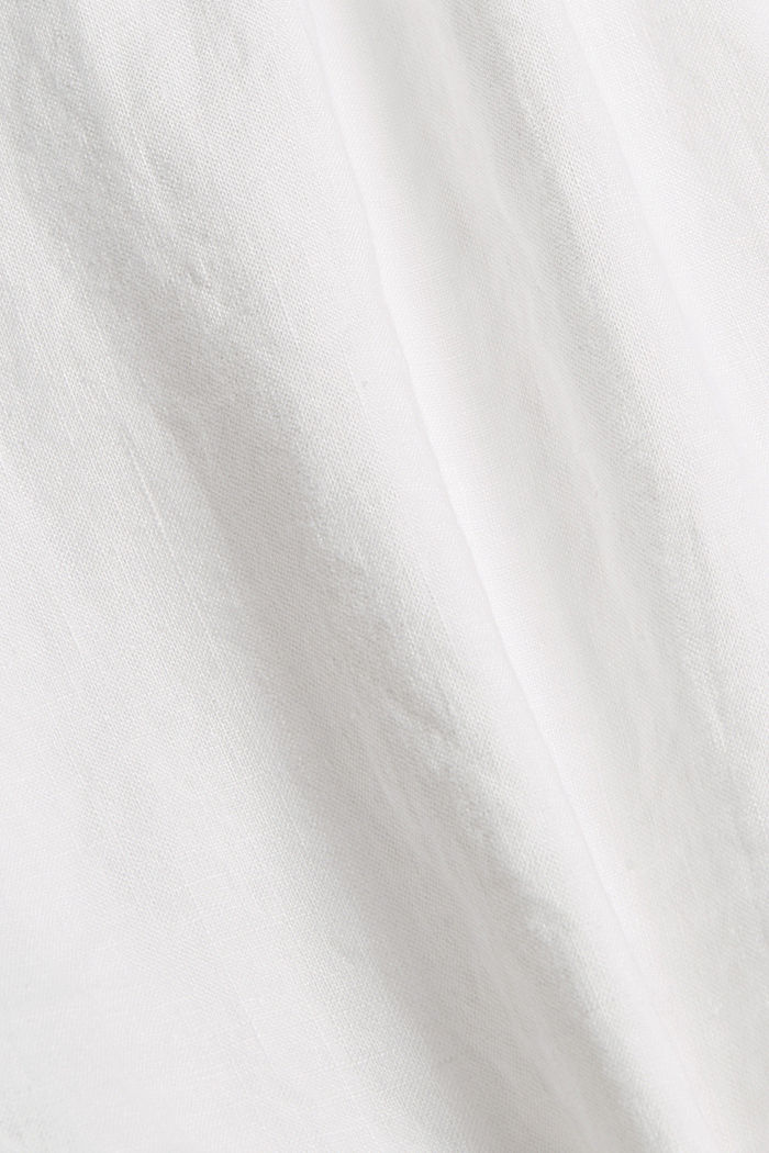 Aus 100% Leinen: lockeres Blusentop, WHITE, detail image number 4