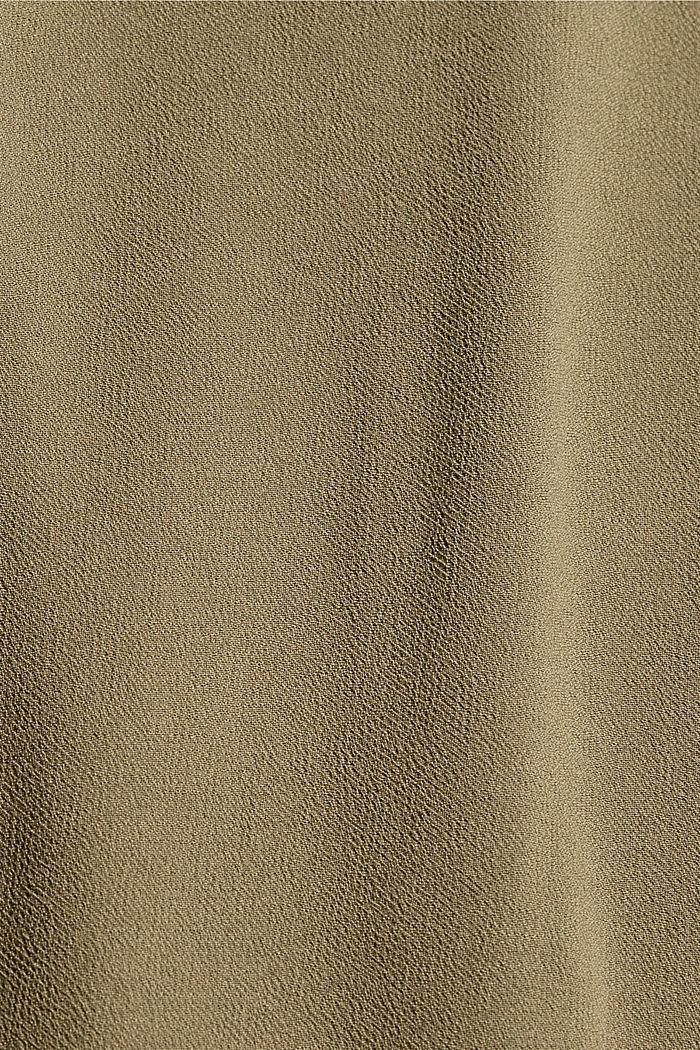 Blusentop mit Schleife, LENZING™ ECOVERO™, LIGHT KHAKI, detail image number 4