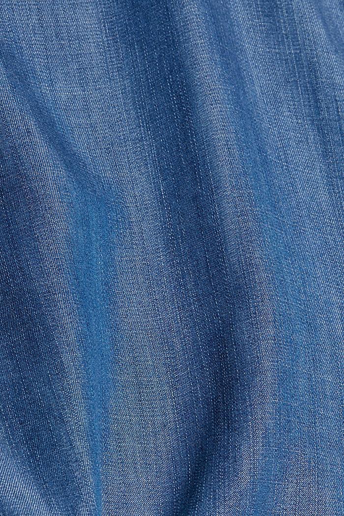 En TENCEL™: Top con acabado vaquero, BLUE MEDIUM WASHED, detail image number 4