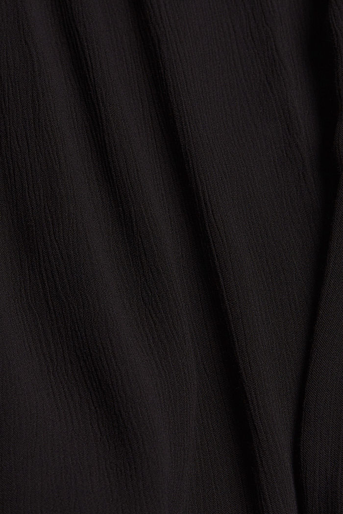 Flared crinkle top in viscose, BLACK, detail image number 4