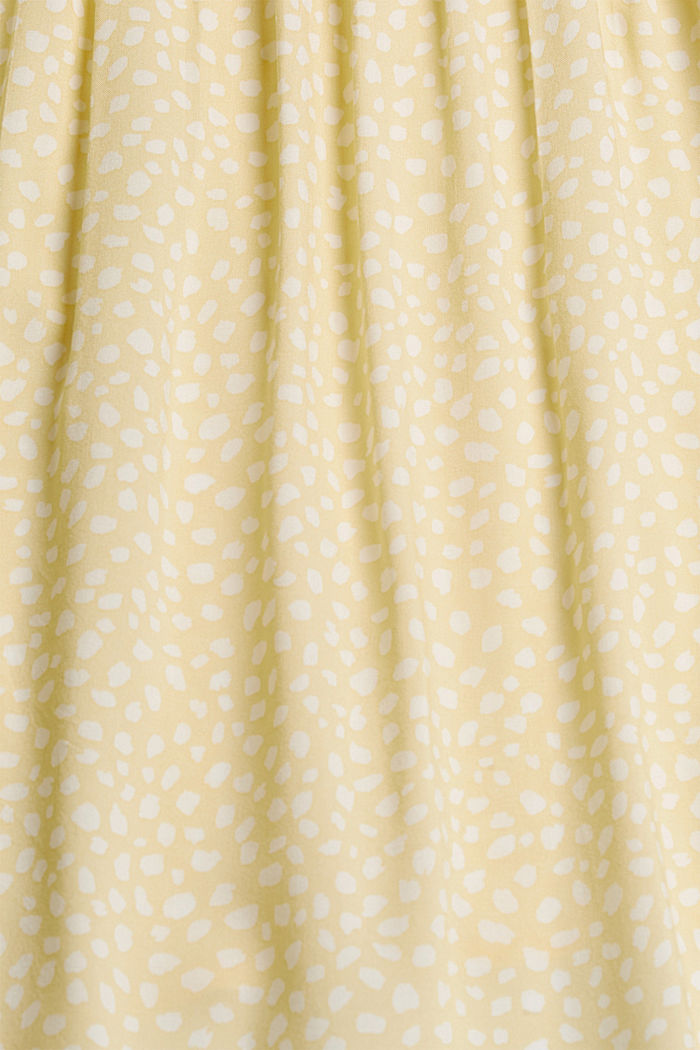 Blouse with pintucks made of LENZING™ ECOVERO™, LIGHT YELLOW, detail image number 4