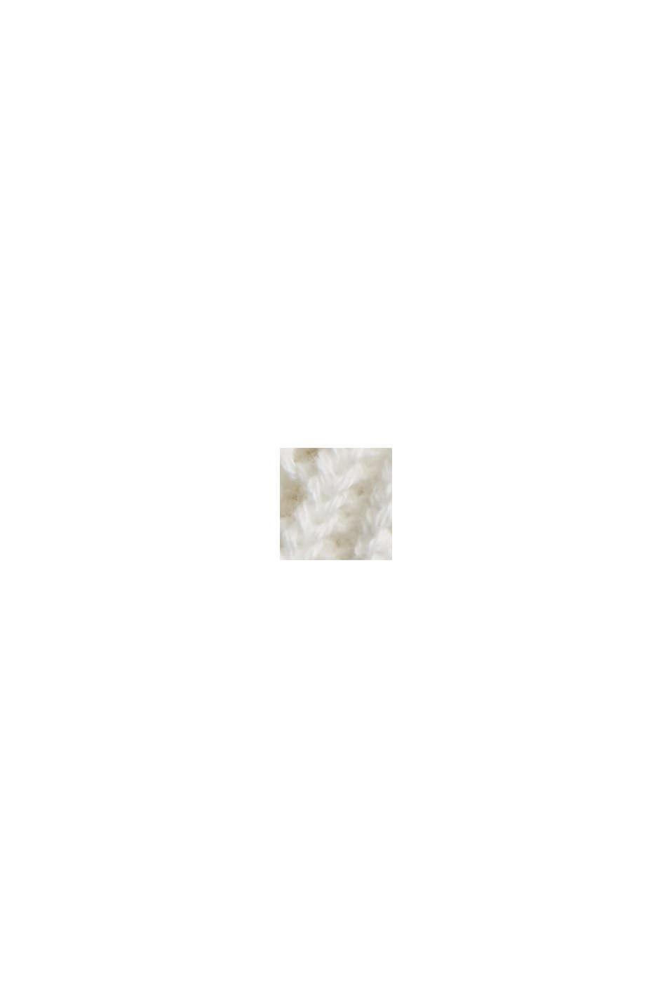 Kofta med hålmönster, 100% ekologisk bomull, OFF WHITE, swatch