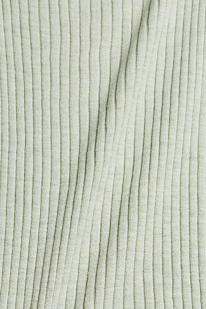 Tanktop aus Rippstrick, Organic Cotton, PASTEL GREEN, detail image number 4