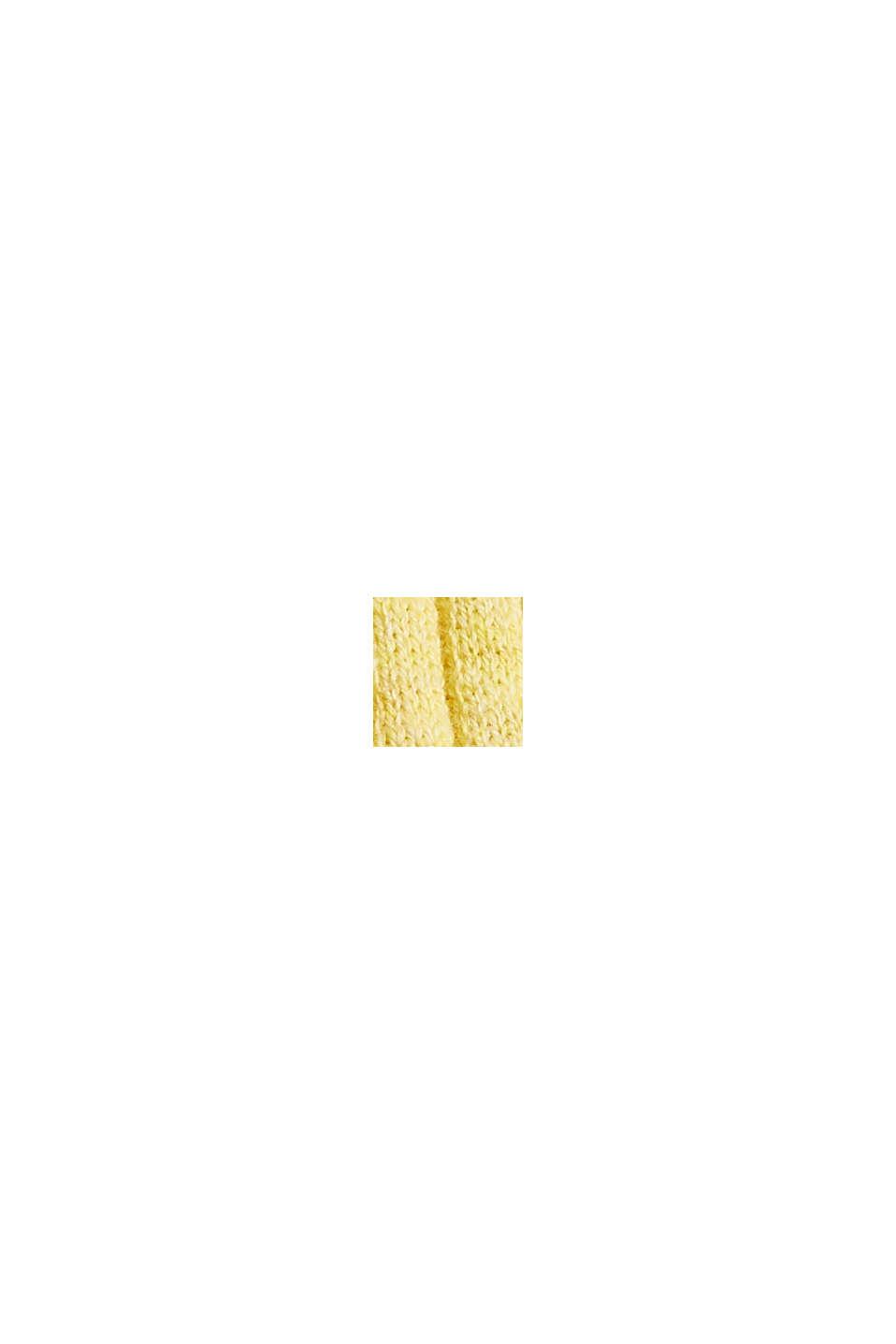 Rib knit sleeveless top, organic cotton, LIGHT YELLOW, swatch