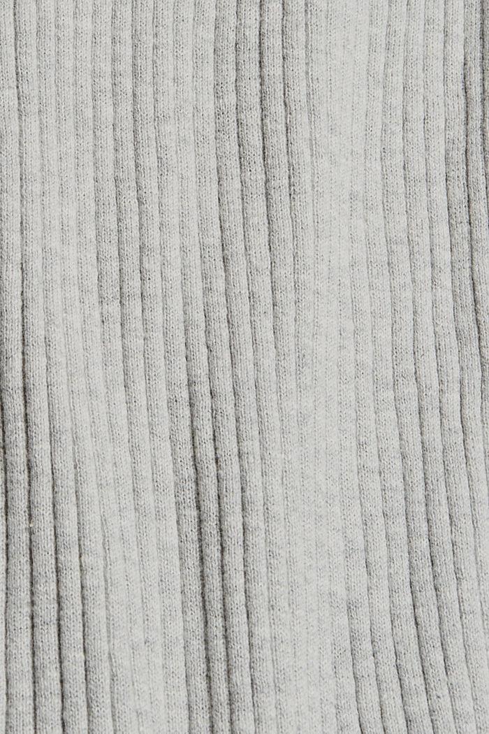 Rib knit cardigan, organic cotton, LIGHT GREY, detail image number 4