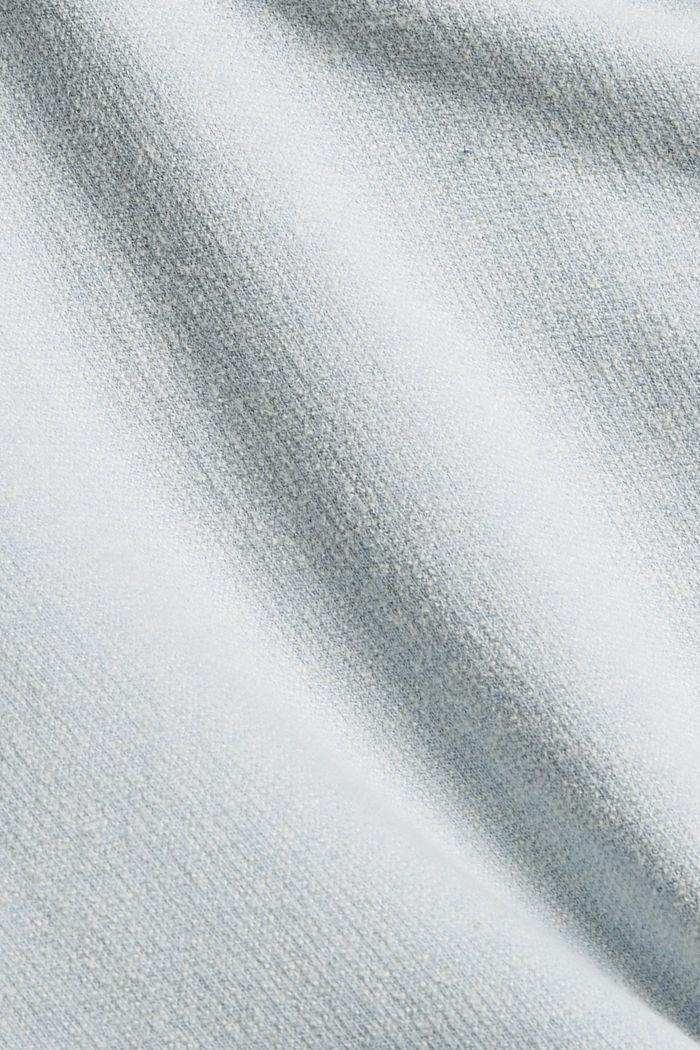 Sweatvest met organic cotton, LIGHT BLUE LAVENDER, detail image number 4