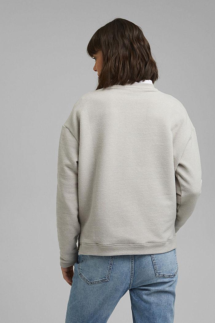 Sweat-shirt gratté à teneur en coton biologique, LIGHT GREY, detail image number 3