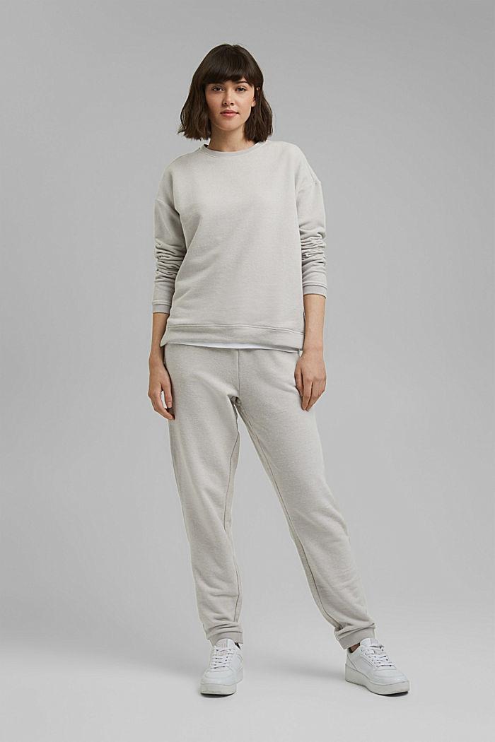 Sweat-shirt gratté à teneur en coton biologique, LIGHT GREY, detail image number 5