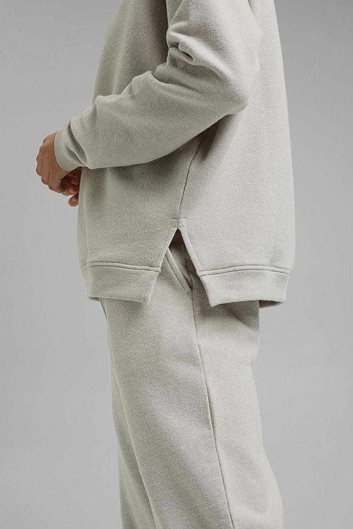 Sweat-shirt gratté à teneur en coton biologique, LIGHT GREY, detail image number 2