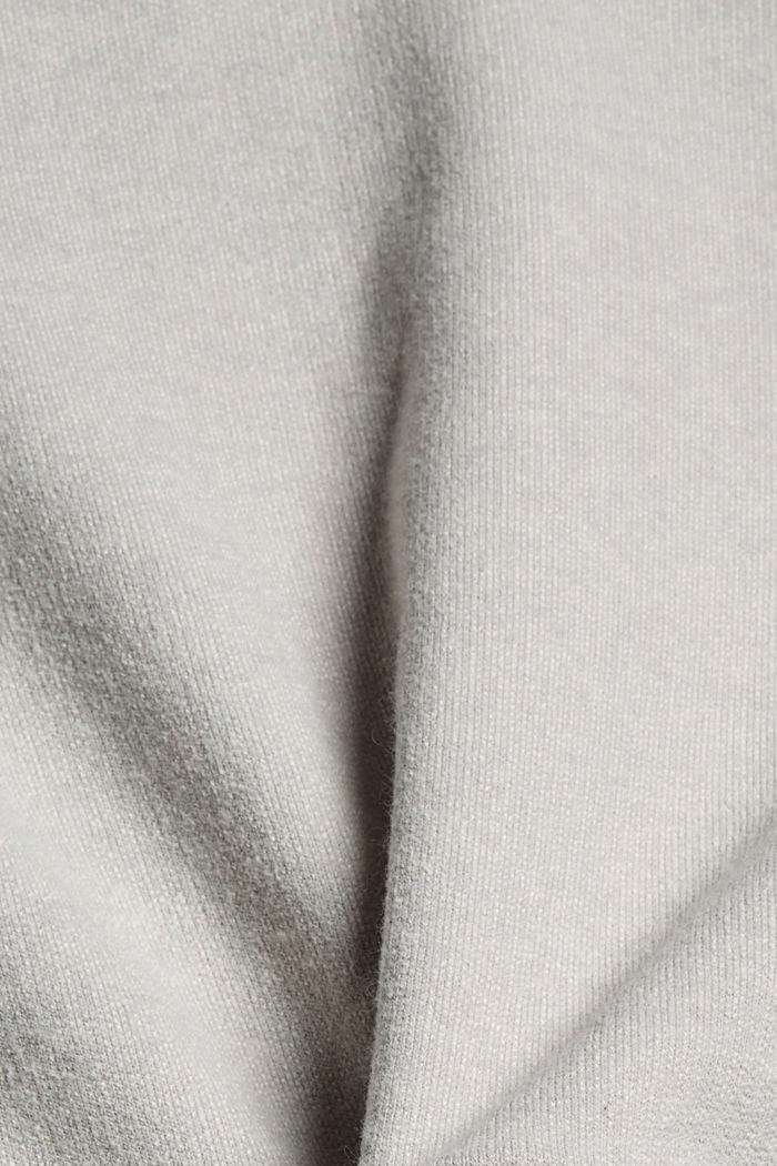 Sweat-shirt gratté à teneur en coton biologique, LIGHT GREY, detail image number 4