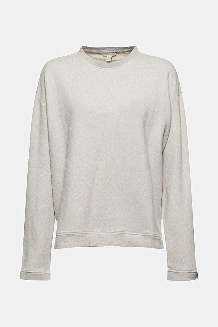 Sweat-shirt gratté à teneur en coton biologique, LIGHT GREY, detail image number 6