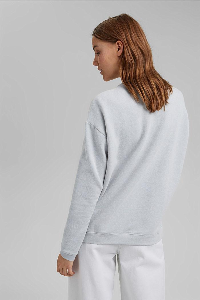 Zacht geruwd sweatshirt met biologisch katoen, LIGHT BLUE LAVENDER, detail image number 3