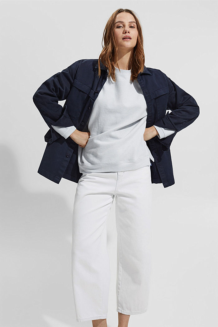 Zacht geruwd sweatshirt met biologisch katoen, LIGHT BLUE LAVENDER, detail image number 5