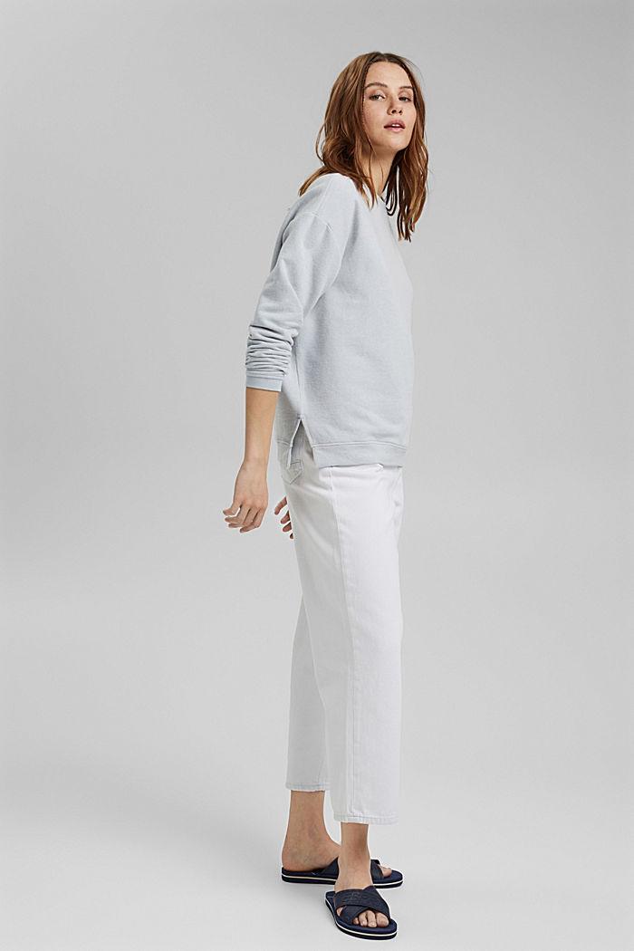 Zacht geruwd sweatshirt met biologisch katoen, LIGHT BLUE LAVENDER, detail image number 1