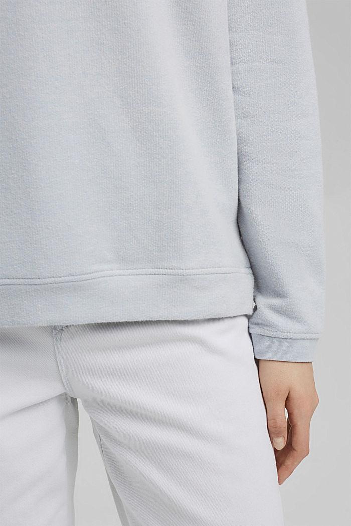 Zacht geruwd sweatshirt met biologisch katoen, LIGHT BLUE LAVENDER, detail image number 2