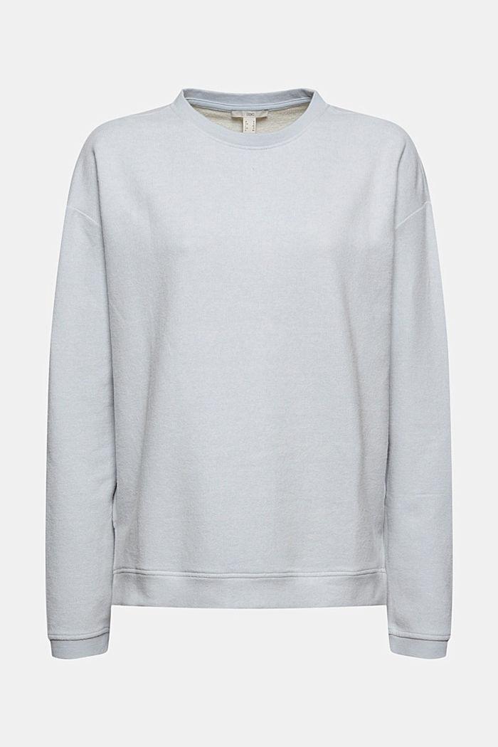 Zacht geruwd sweatshirt met biologisch katoen, LIGHT BLUE LAVENDER, detail image number 6
