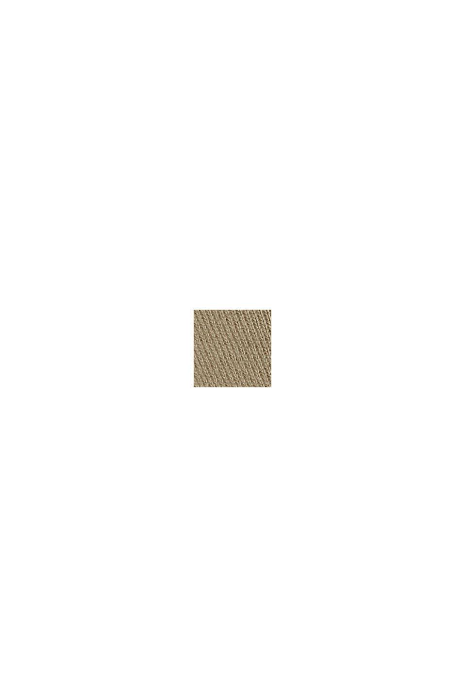 Sobrecamisa de felpa con diseño oversize, 100 % algodón ecológico, LIGHT KHAKI, swatch