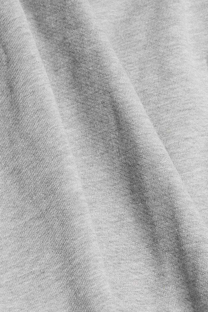 Overshirt van sweatstof van een katoenmix, LIGHT GREY, detail image number 4