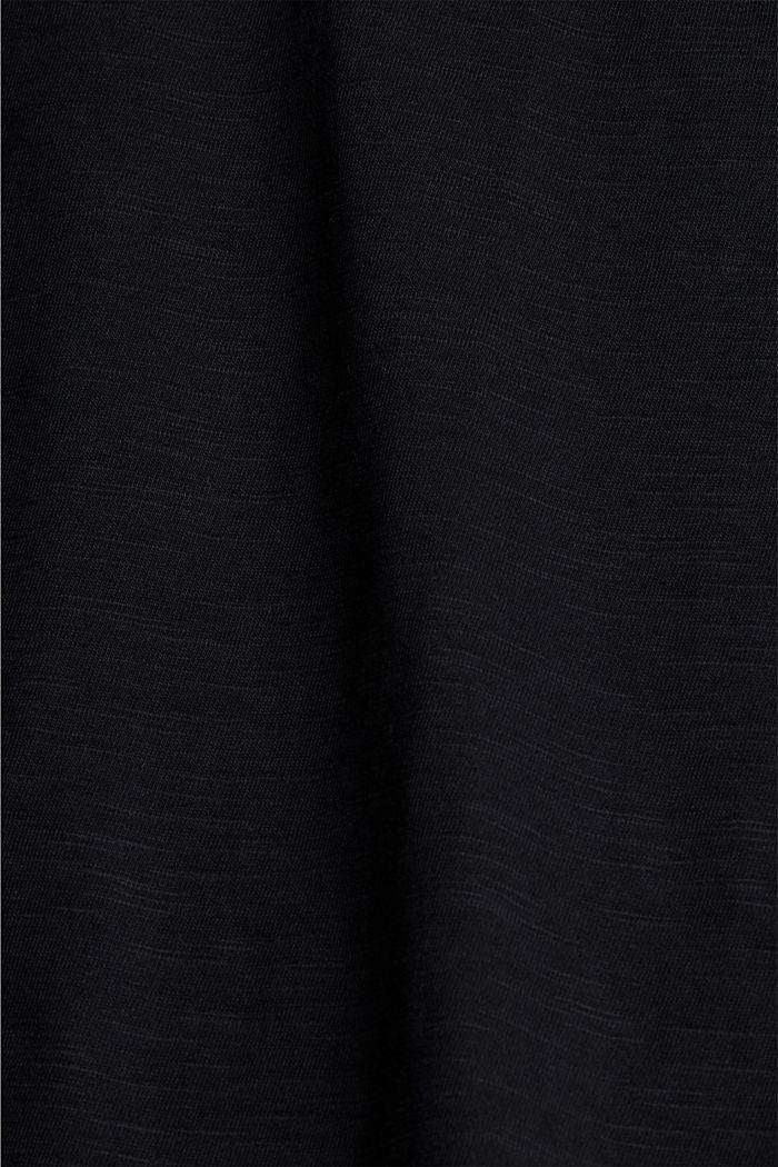 Pitsisomisteinen T-paita, luomupuuvillaa, BLACK, detail image number 4