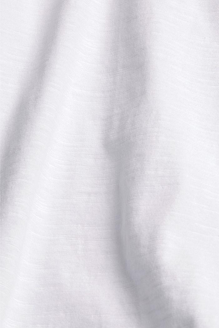 T-shirt met gehaakte kant, biologisch katoen, WHITE, detail image number 4