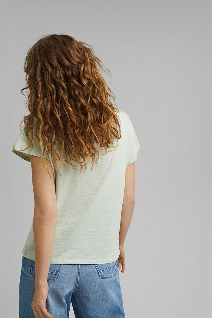 Pitsisomisteinen T-paita, luomupuuvillaa, PASTEL GREEN, detail image number 3