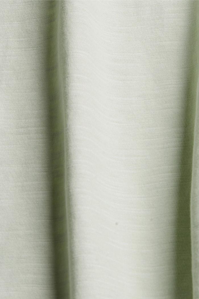 Pitsisomisteinen T-paita, luomupuuvillaa, PASTEL GREEN, detail image number 4