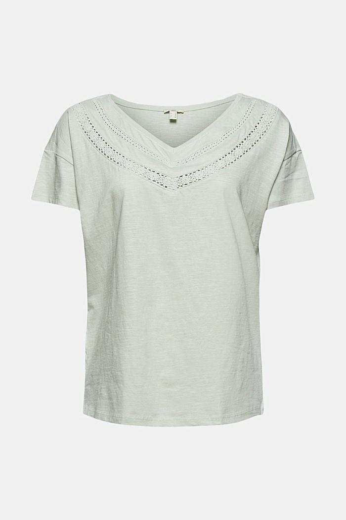 Pitsisomisteinen T-paita, luomupuuvillaa, PASTEL GREEN, detail image number 5