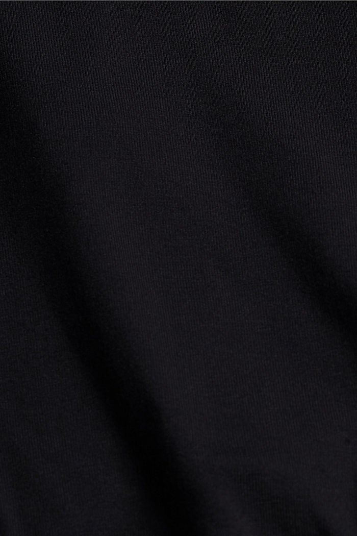Strappy top in a wrap-over look, LENZING™ ECOVERO™, BLACK, detail image number 4