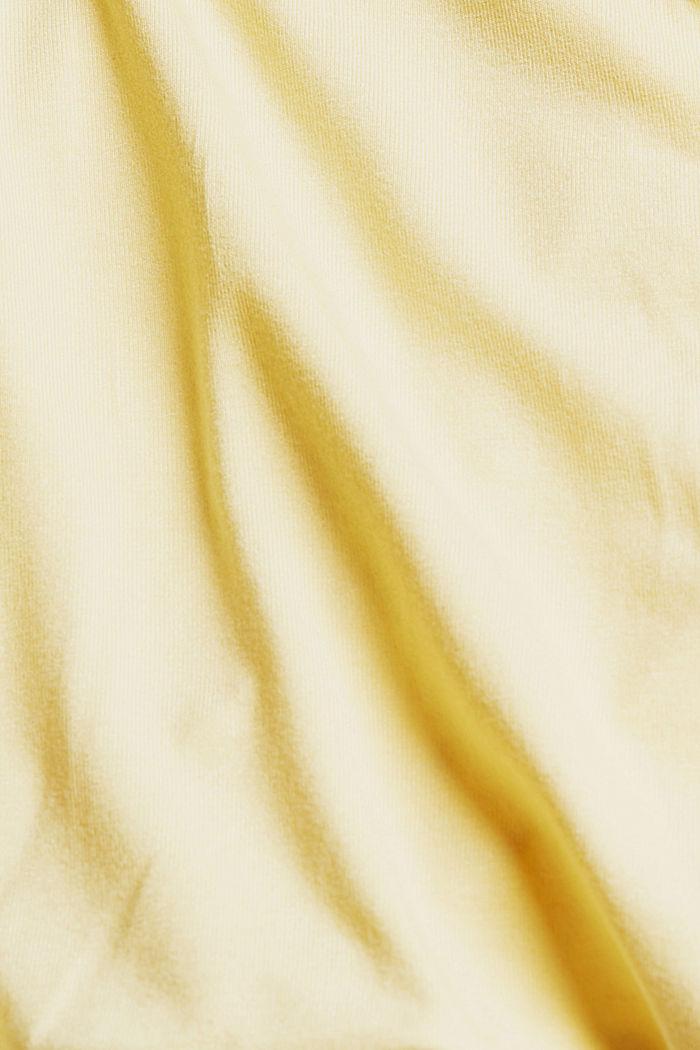 Trägertop in Wickeloptik, LENZING™ ECOVERO™, LIGHT YELLOW, detail image number 4