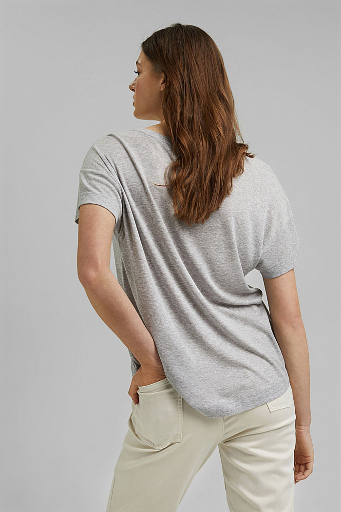 T-shirt made of TENCEL™ lyocell, LIGHT GREY, detail image number 3