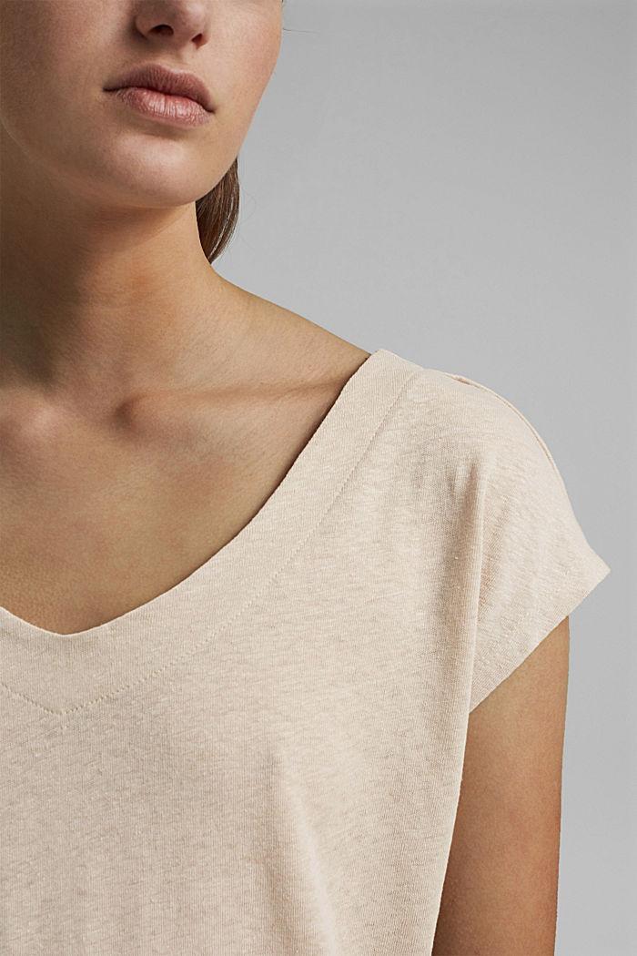 Leinen-Mix: Shirt mit rückseitiger Knopfleiste, BEIGE, detail image number 2