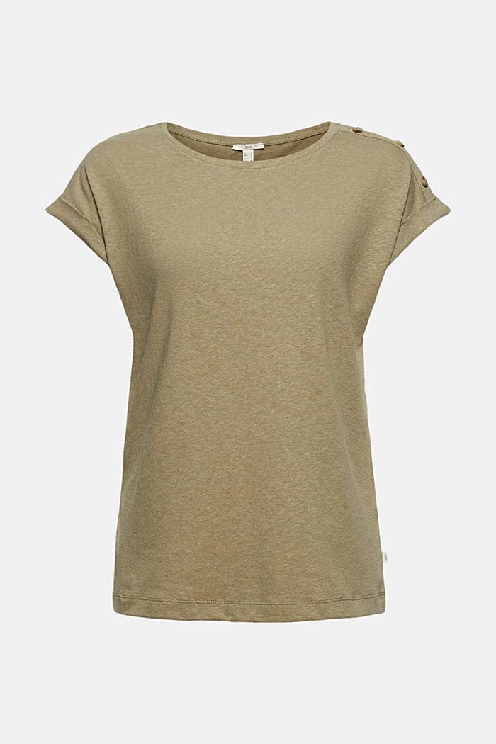 À teneur en lin: le t-shirt à boutons