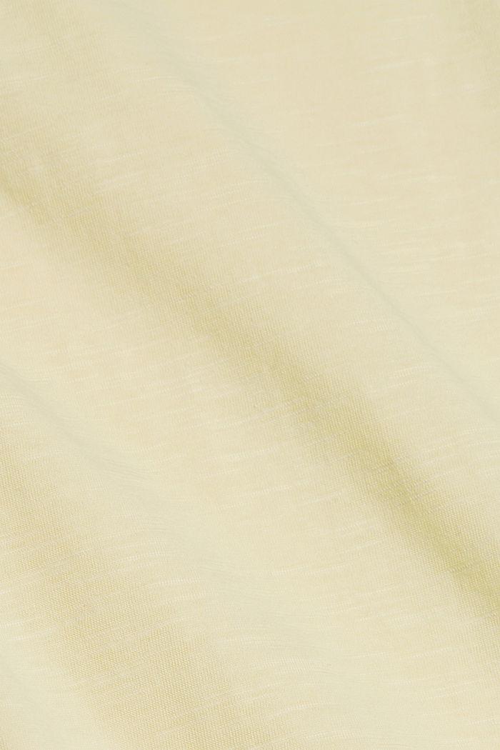 T-shirt à volants, coton biologique, LIGHT YELLOW, detail image number 4