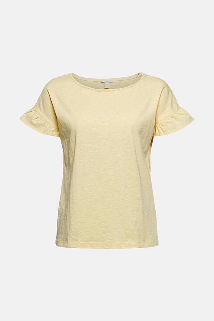 T-Shirt mit Volants, Organic Cotton
