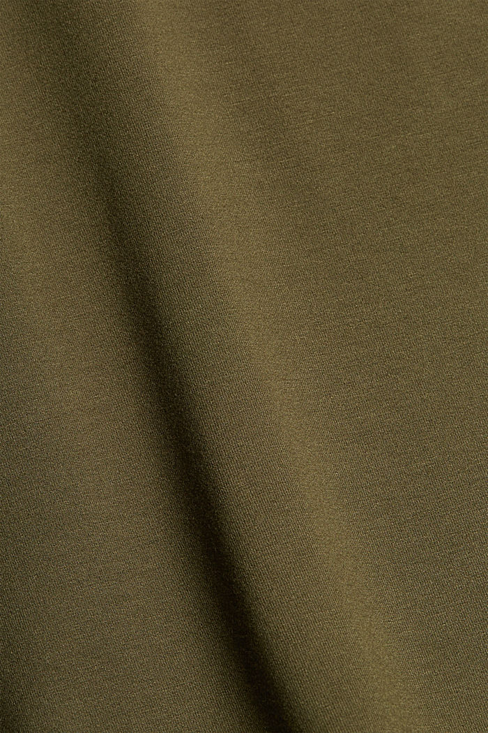 Top with back cut-out, LENZING™ ECOVERO™, KHAKI GREEN, detail image number 4