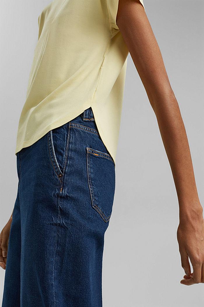 Shirt mit Rückenausschnitt, LENZING™ ECOVERO™, LIGHT YELLOW, detail image number 5