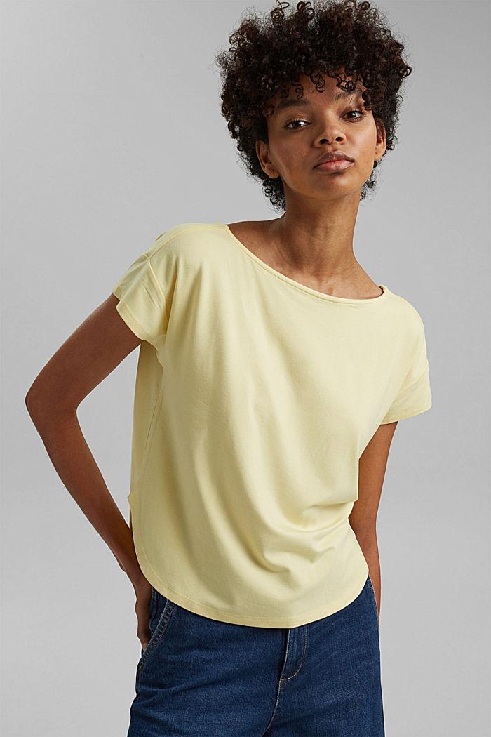 Shirt mit Rückenausschnitt, LENZING™ ECOVERO™, LIGHT YELLOW, detail image number 6