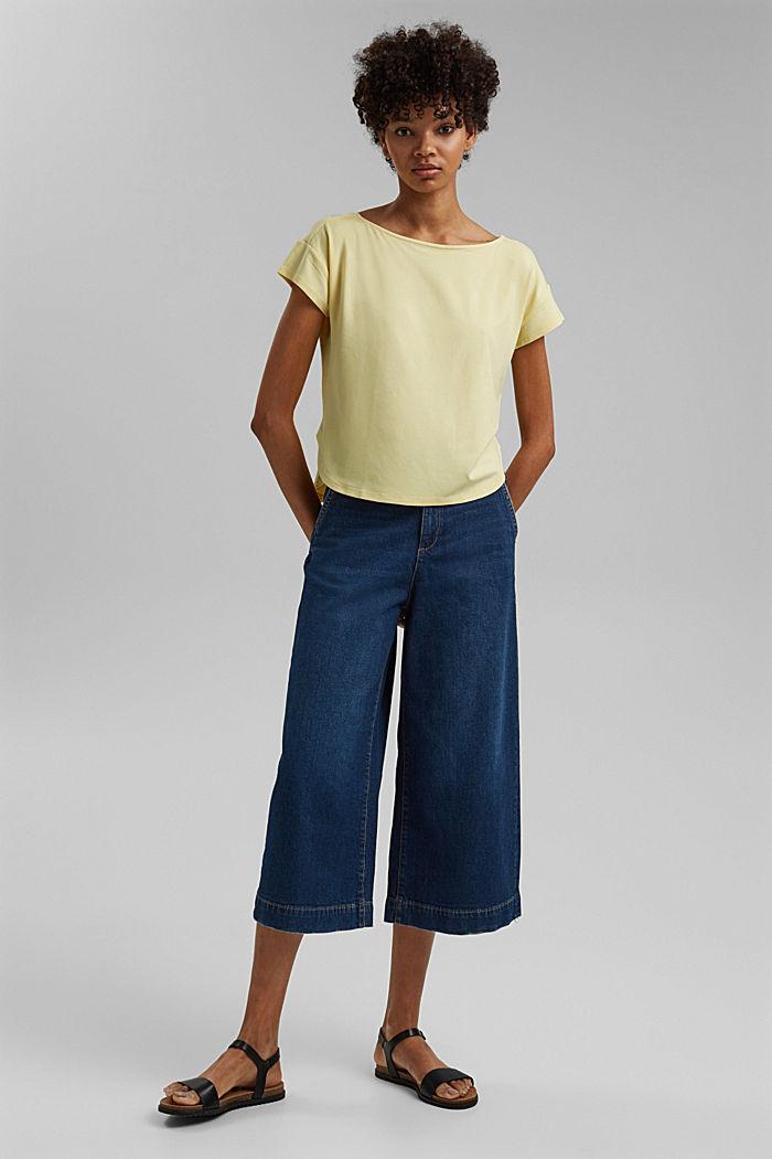 Shirt mit Rückenausschnitt, LENZING™ ECOVERO™, LIGHT YELLOW, detail image number 1