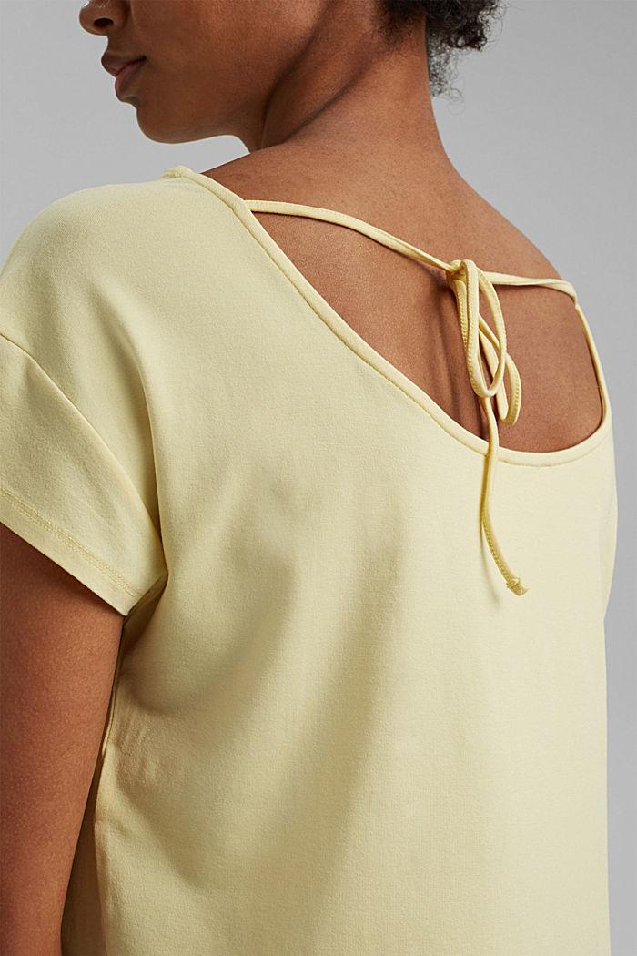Shirt mit Rückenausschnitt, LENZING™ ECOVERO™, LIGHT YELLOW, detail image number 2