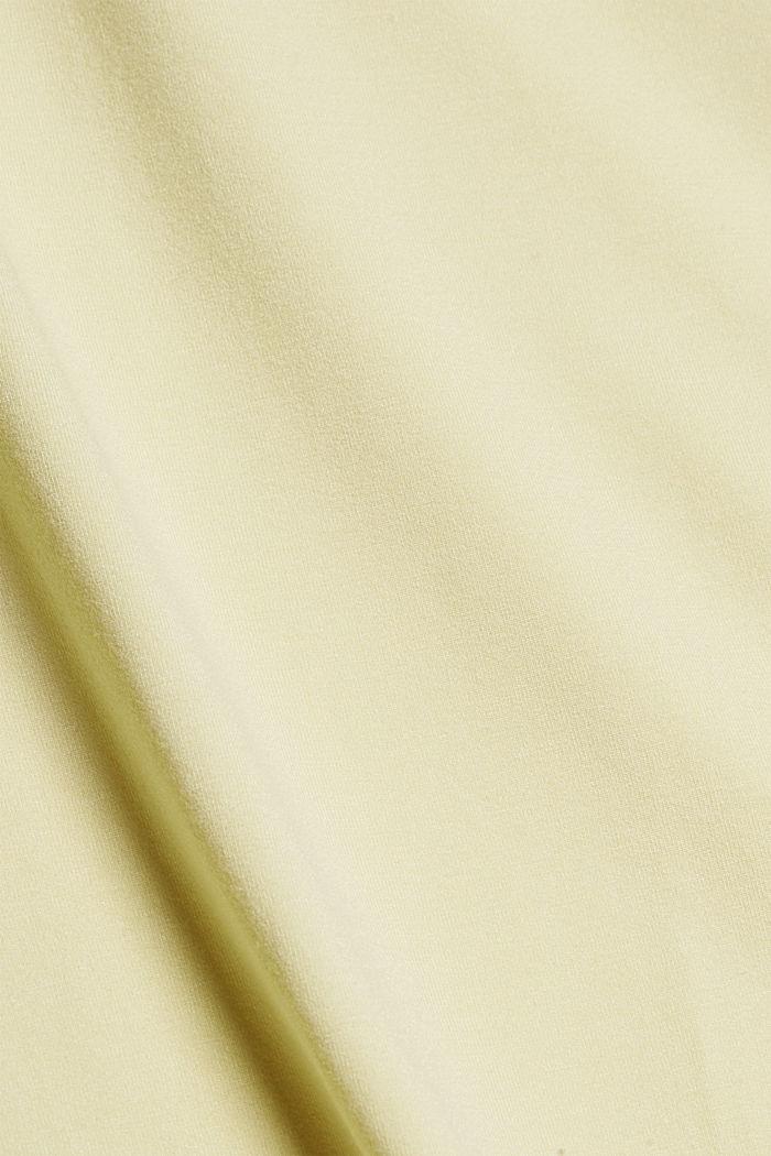Shirt mit Rückenausschnitt, LENZING™ ECOVERO™, LIGHT YELLOW, detail image number 4