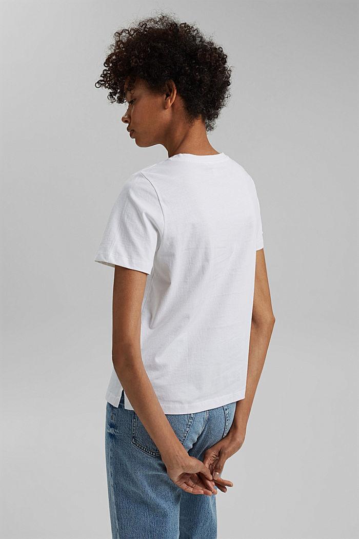 Tričko s metalickým potiskem, bio bavlna, WHITE, detail image number 3