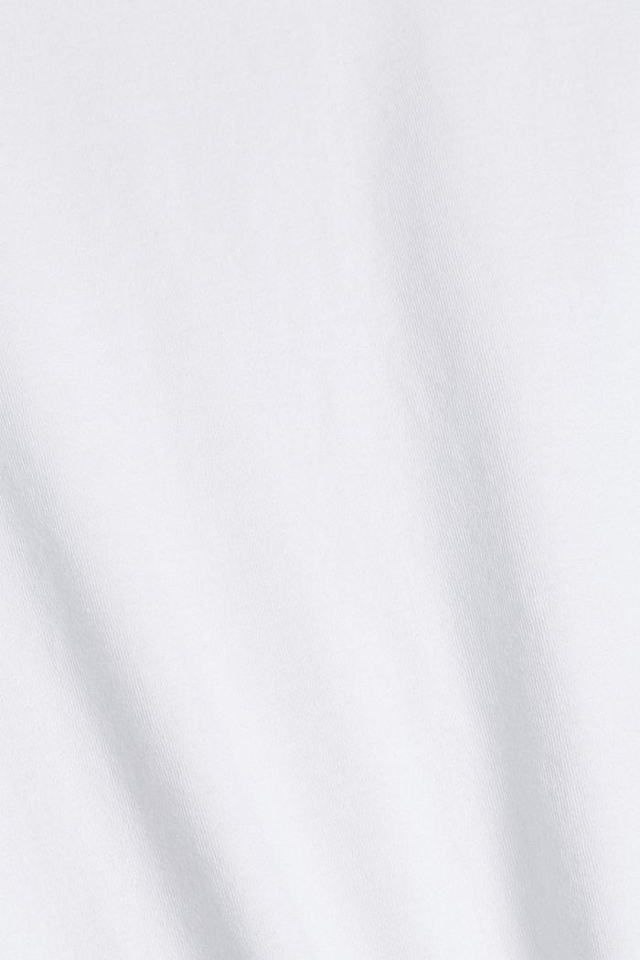 Tričko s metalickým potiskem, bio bavlna, WHITE, detail image number 4
