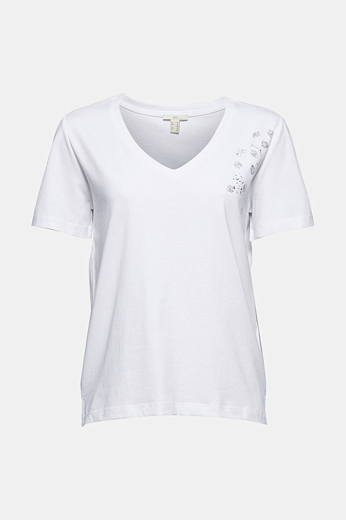 T-shirt with metallic print, organic cotton
