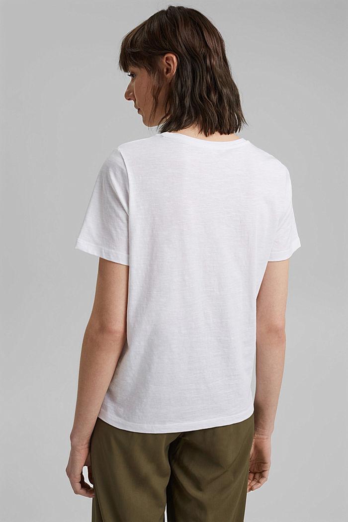 Valokuvapainettu T-paita, 100 % luomupuuvillaa, WHITE, detail image number 3