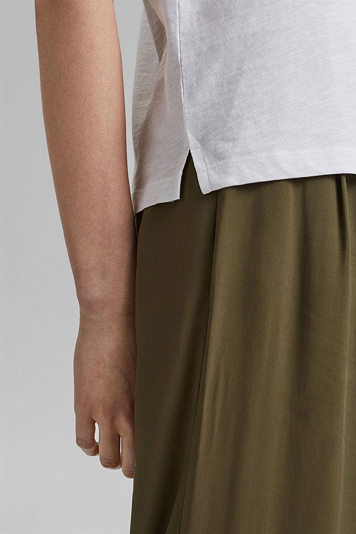 Valokuvapainettu T-paita, 100 % luomupuuvillaa, WHITE, detail image number 5