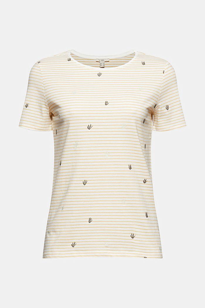 Besticktes Streifen-Shirt mit Bio-Baumwolle, LIGHT YELLOW, detail image number 5
