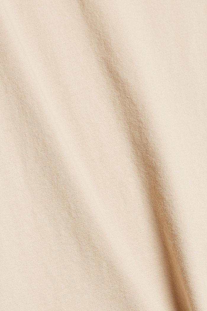 Tanktop mit Stickerei, Organic Cotton, BEIGE, detail image number 4